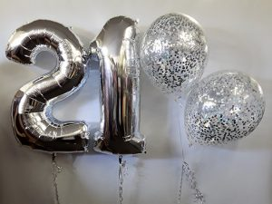 21 number balloons