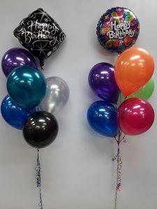 Birthday balloon bunches