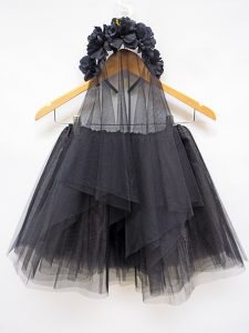 Black veil & tutu set