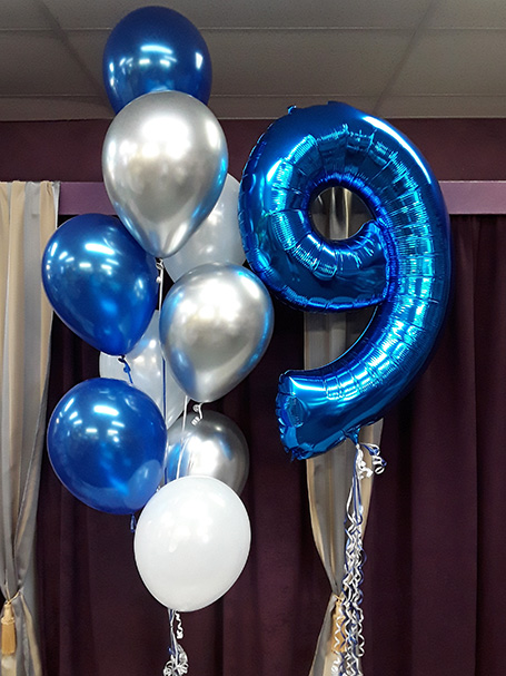 Boy's birthday party balloons