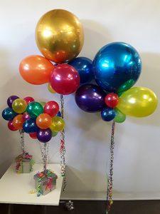 Bright celebration balloons