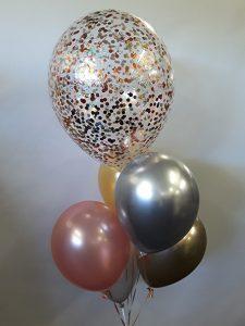Confetti & latex combo balloon bouquet