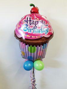 Cupcake balloon bouquet