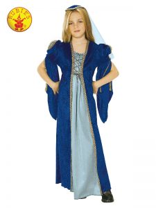 Child's blue Juliet costume