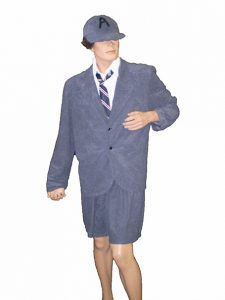 Angus Young costume gray velvet school boy uniform