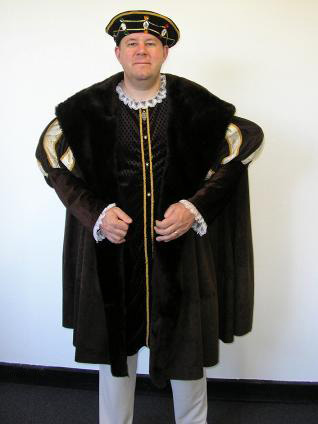 Henry VIII costume, King costume. Great men's plus size costume
