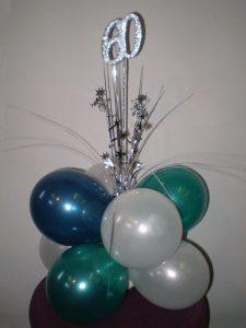 60th birthday balloon decorations