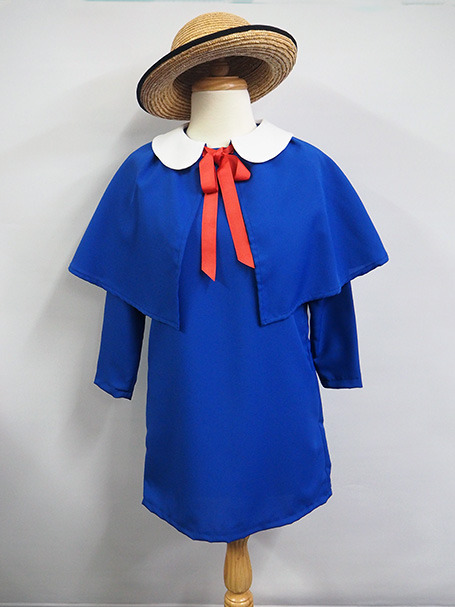 Child's Madeline costume. Madeline hat cape & drerss
