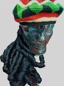 Rasta hat with attached dreadlocks