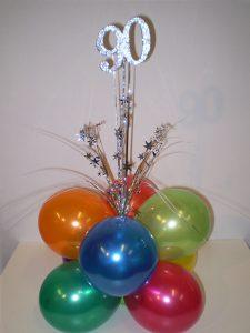 Bright birthday balloons