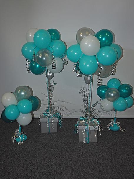 Balloon tree table decorations
