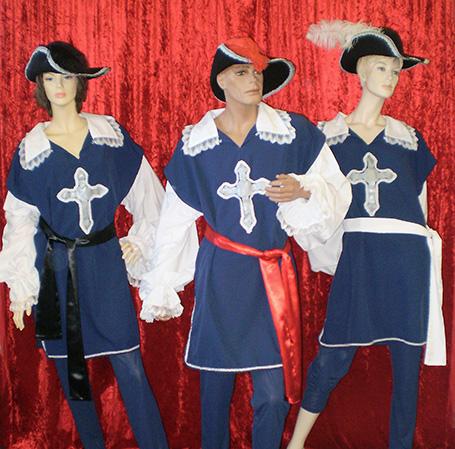 Three Musketeer costumes