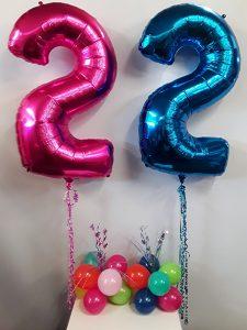 Twin birthday decorations