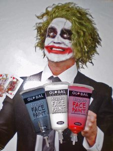 Joker wig and face paint