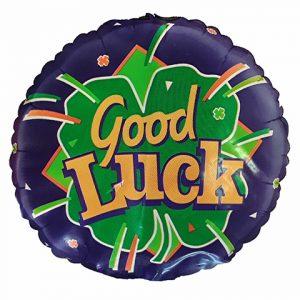 Good Luck clover balloon