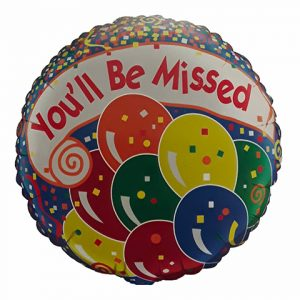 You'll be missed balloon